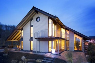German Manufactured Eco House, Leicestershire